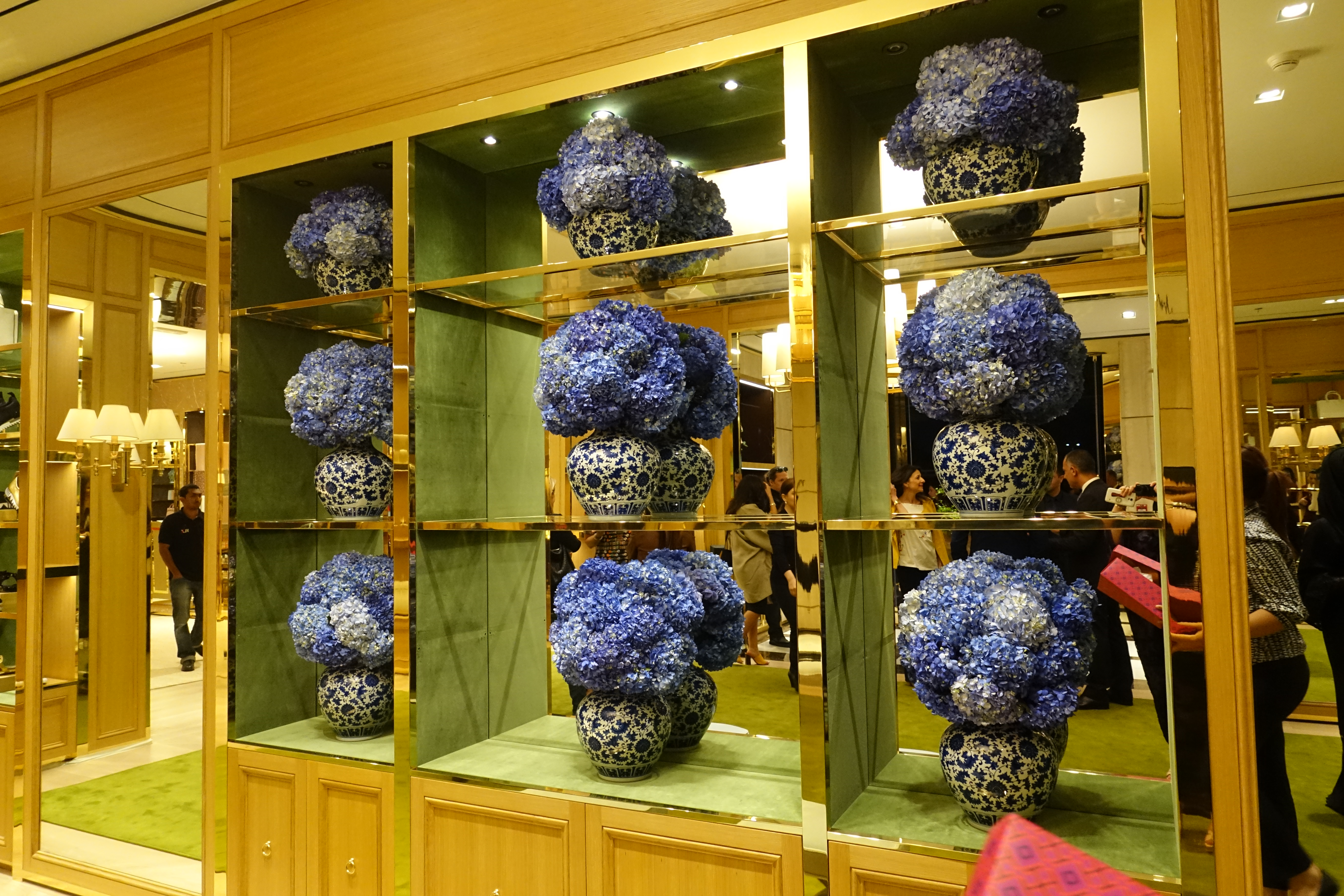 a5be805d4e80 TB store interior. How beautiful are the flowers